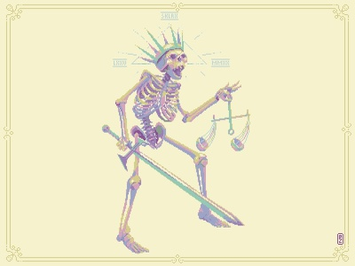 skeleton king [pixel art] characterdesign sprite retroart 16bit 8bit aseprite pixel art pixelart king skeleton character design character