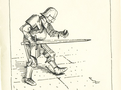 armor [ inktober 2020 ] character design illustration drawing fountainpen hand drawn crosshatching ink drawing sword knight armor medieval woodcut gravure inking ink crosshatch etching swordman