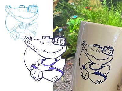 Bert 🐊 in a wild :) sketch vs final bert k6 character designs drawing cartoon mascot character design kid illustration adorable cartoon character character alligator crocodile characterdesign sketch sketchvsfinal
