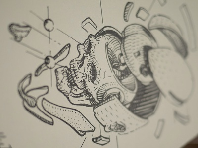 assembling illustration drawing sketch moleskine