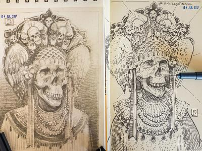 pencil sketch and inks illustration drawing sketch moleskine