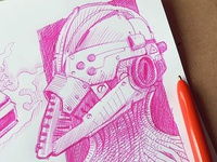 quick doodle with bic4