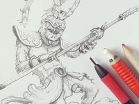 Sun Wukong (detail)