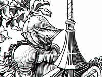 the knight of the pedal kind (detail)
