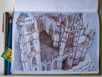 cathedral in kosice sketch
