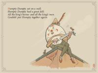 Humpty Dumpty in a style of W.W. Denslow
