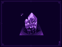 crystal of quartz, 5 colors including background