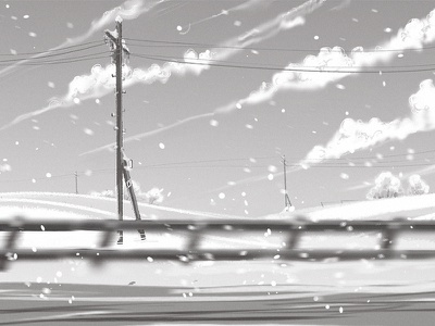 along the winter highway game development concept art environment design winter speed drawing story illustration speed painting sketch digital art storyboarding storyboard
