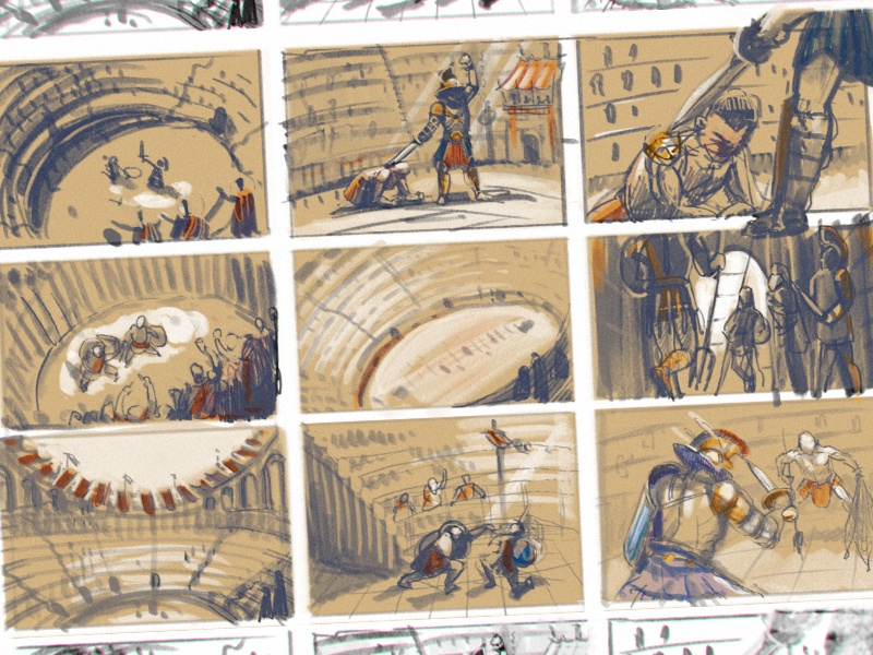 Quick Sketches For Colosseum Theme By Pako On Dribbble