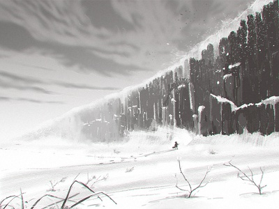 Storyboard 10 The Snow Wall gamedev environment art concept art sketch story illustration animatic storyboarding storyboard