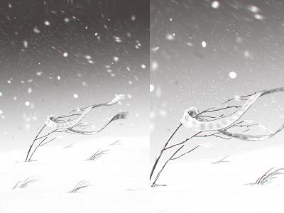 The end gamedev winter death illustration sketch sketching storyboarding storyboard cinematic storytaling