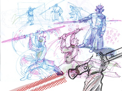 Darth Maul preps star wars darth maul character design drawing graphic drafts gestures workinprogress bic4color sketching sketch