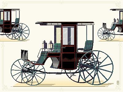 Carrige, 1885, NY the hub vintage pixel dailies pixel-dailies illustration aseprite assets sprite retrogaming 16bit 8bitart pixel art pixelart carrige