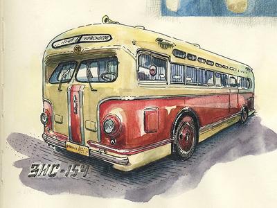 Zis 154 soviet bus