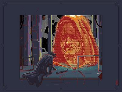 Yes, Master (hologram) star wars pixel dailies pixel-dailies gameart gamedev characterdesign concept art illustration 8bit pixel art pixelart darth maul starwars