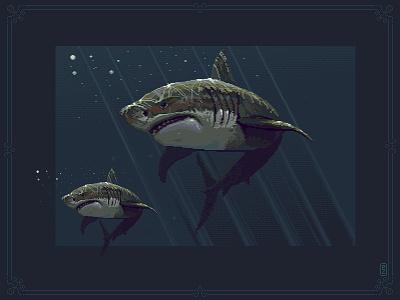 shark pixel art pakowacz pakopixel illustration 16bit 8bit aseprite pixel dailies sprite gamedev pixel art pixelart shark