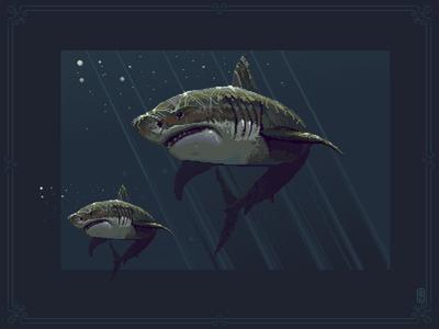 shark pixel art