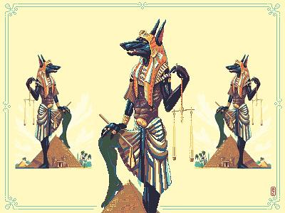 Seth [pixel art] pixels game artist characterdesign 8bit aseprite pixel dailies pixelart pixel art myth god egypt illustration