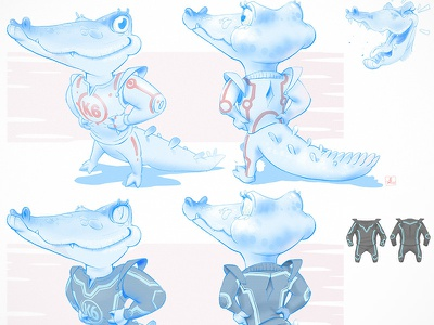 detailed sketch wip video game art video game simple cute comic art character cartoon adorable crocodile concept art ink illustration costume design sketch mascotlogo mascot character illustration character design characterdesign