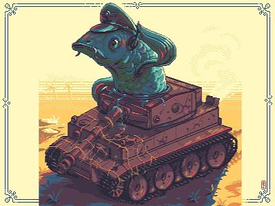 Fishtank [pixel art] concept art character design character comic art cartoon sprite retro game artist game art pixel art pixelart art pixel addorable cute illustration fishtank fish tank