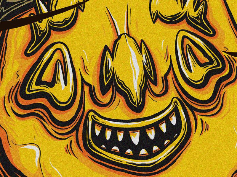 Francis. alien man boy teeth monster bible christian pope street art smile poster face portrait illustration character