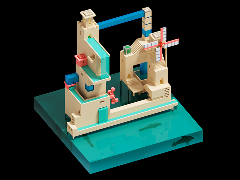 Voxel Sewerage by Leto | Dribbble | Dribbble