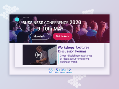 Short conference landing page