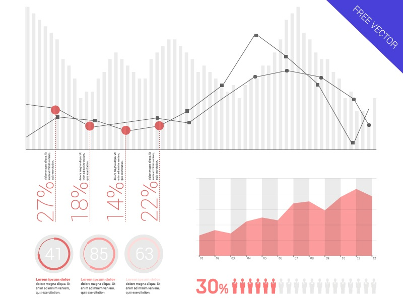 FREE Infographic Elements - Flat UI Design free infographic flat ui design pink number graph