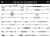 Free Vector Set of Design Elements