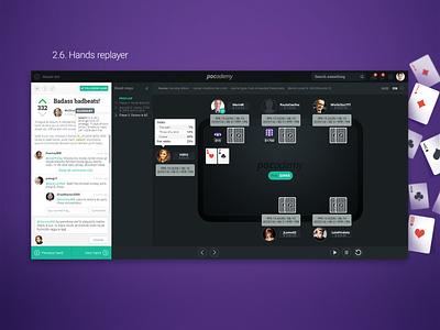 Pocademy - hand replayer interface webdesign webapp web application startup ui poker pocademy