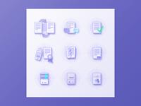 Nine custom icons