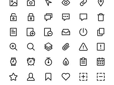 84 Line Icons illustration flat svg sketch illustrator psd general set icon line free freebie