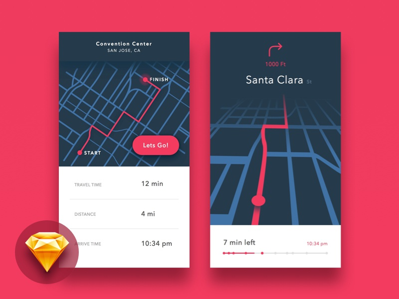 Maps ui kit by ray pansoy dribbble for Easy app design
