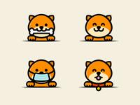 Cute Doggos logo designer logodesign logotype character design stickers stickermule illustration icons branding icon designer cocorino dog logos cute dogs icon design