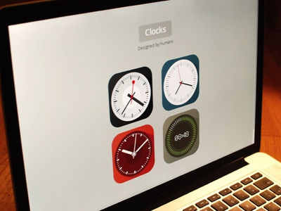 Flat icon set - clocks