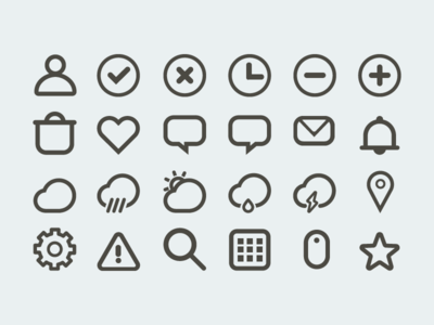 Set of 24 outline icons set of 24 outline icons outline ios icons illustrator vector london flatties dribbble sharp weather icons