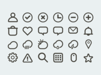 Set of 24 outline icons