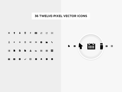 36 Twelve-Pixel Vector Icons