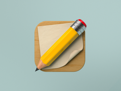 Dribbble Shot icon pencil logos icon design icondesign rendering arnoldrender octanerender arnold octane metal illustration c4d cinema4d branding icon designer logo design logo