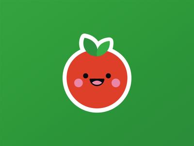 Tomatte: The Matte Cherry Tomato comics icon character sticker stickers stickerpack tomato icon icon design london logo designer london icon designer cool sticker cool character texture cocorino tomato