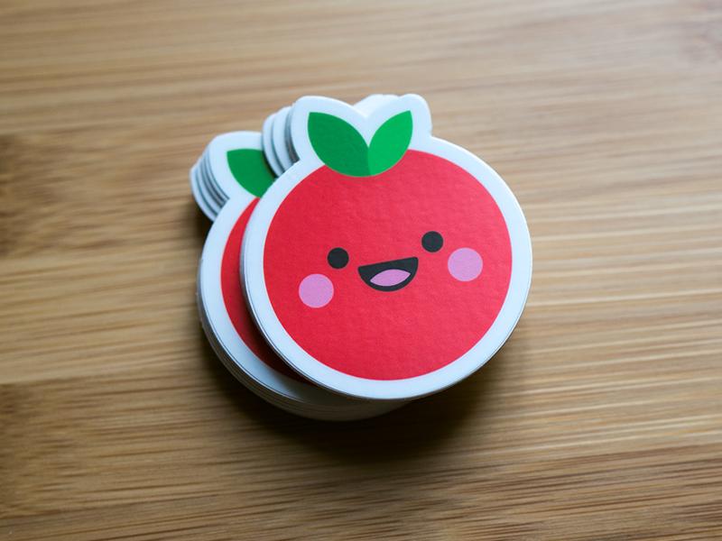 Tomatte Sticker branding logos icons cute character design character design iconaday icon designer logo design logodesigner stickers stickermule tomato