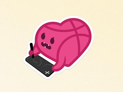 I ♥️ Dribbble! cocorino sticker design pink heart icons icon designers dribbblers stickermule love dribbble