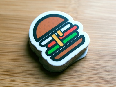 Burger - Cocorino Stickers sticker designer logo designer logo design icon design graphic burger dripping cheese burger icon shake shack macdonalds burger king stickermule stickers burger cocorino