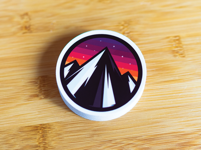 Peaks - LA Sunset icon designer ui design branding logo design character design design illustrator cocorino icon design los angeles peaks concept awesome icon outside mountain landscape scenery adventure  ui flat illustration web branding la sunset colours outdoor logo theme moonlight mountain logo