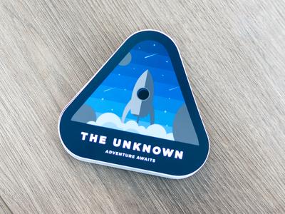 The Unknown - Space Sticker