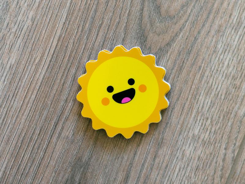 Happy & Sunny New Year cute character design art graphic icon designer character design vector stickermule illustration icons illustrator branding cocorino logo design stickers