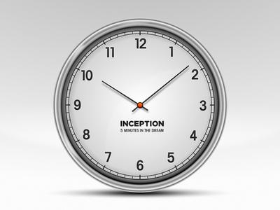 Clock icon, Inception