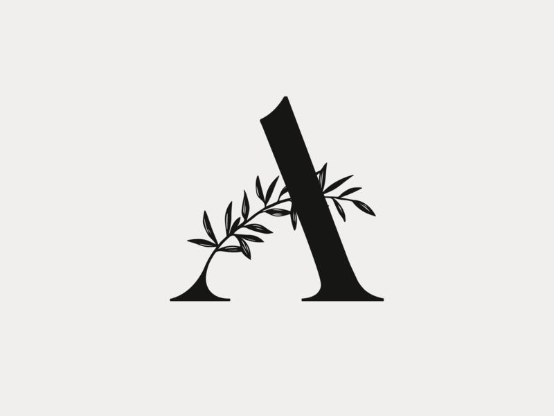 Adiantum #1 caslon typography type custom type brand logo illustration ferns adiantum fern maidenhair