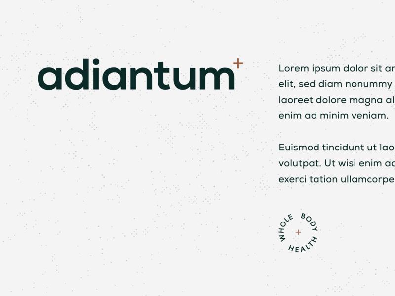 Adiantum #2 adiantum nutrition wordmark brand direction brand logo typography type