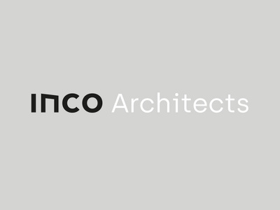 INCO Architects typography studio architect branding logo